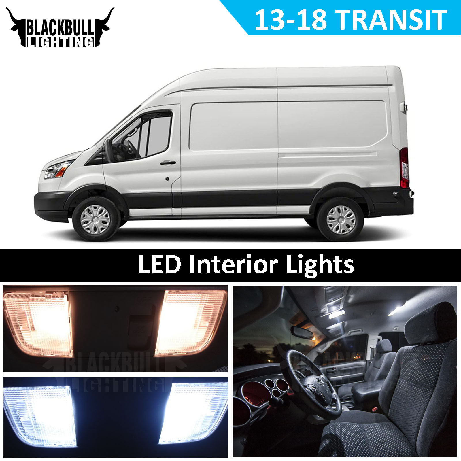 White Interior LED Light Replacement Kit For 2013-2018