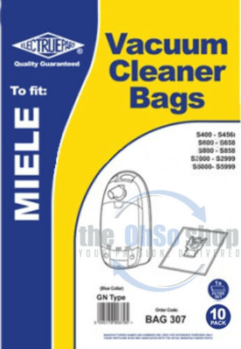 10 x MIELE Vacuum Cleaner Bags GN Type  S5699 S5700 S5710 S5760 S5780 S5711