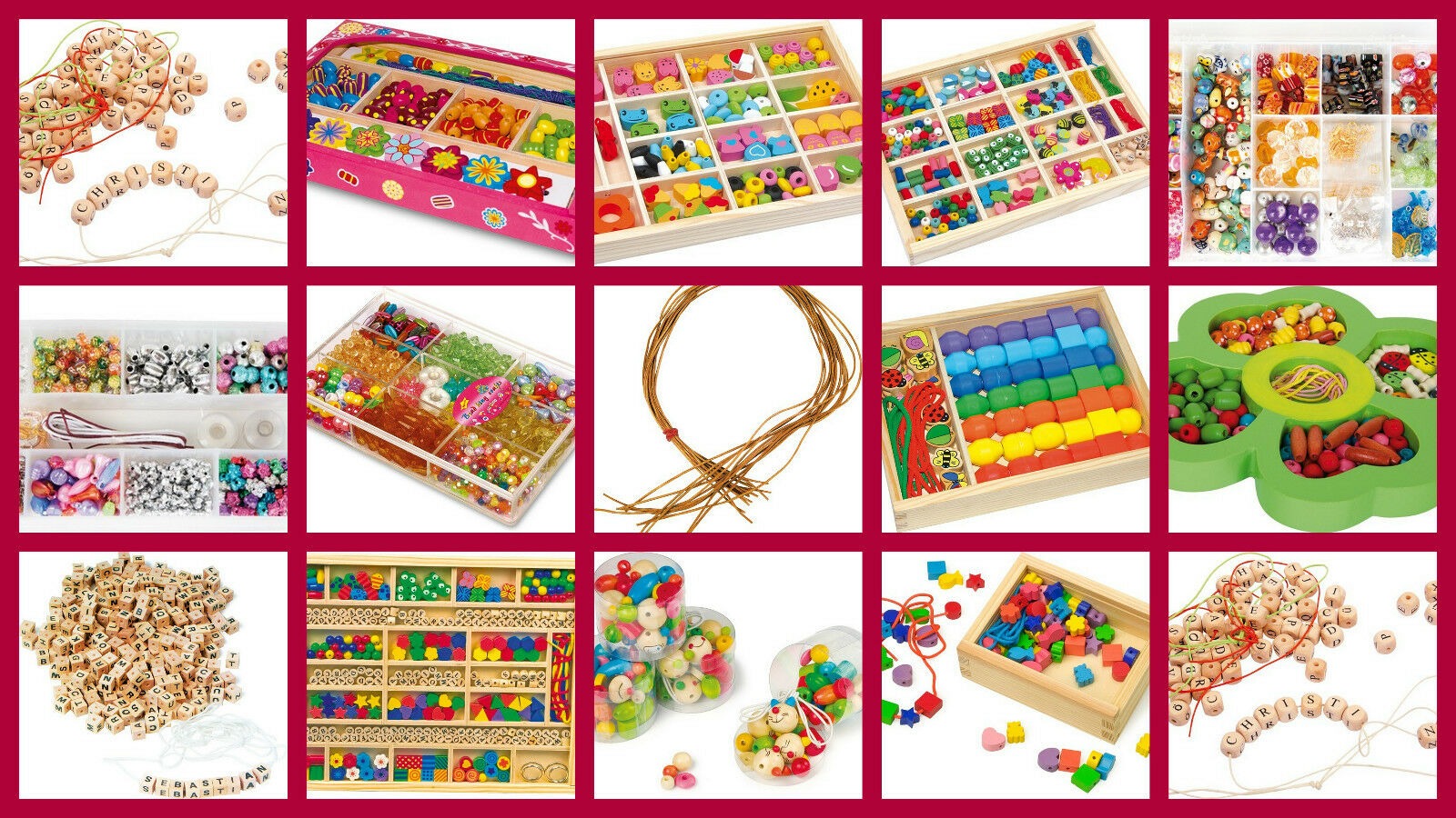 THREADING JEWELLERY sets kids beads crafts pearls stringing letter chains ABC