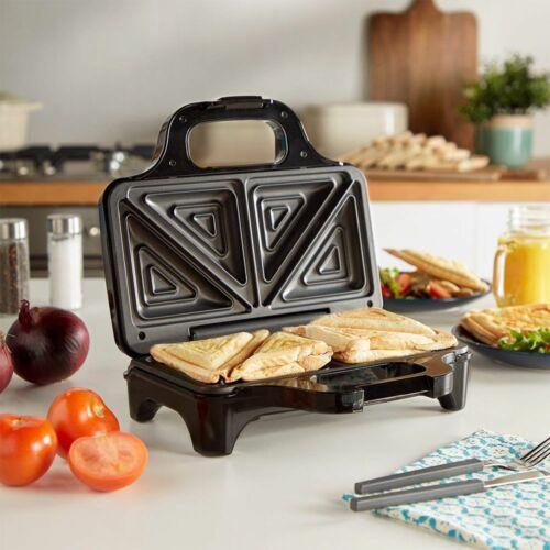 Deep PIASTRA SANDWICH MAKER 2 Slice Tostapane Grill antiaderente