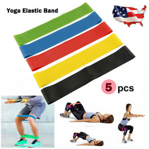 5-in1-Workout-Resistance-Bands-Loop-CrossFit-Fitness-Yoga-Body-Leg-Exercise-Band