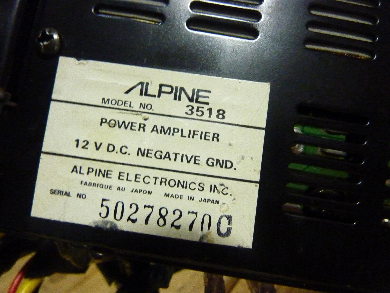 vintage alpine 3518 amp old school 2 channel car amplifier japan s&h for  sale online | ebay