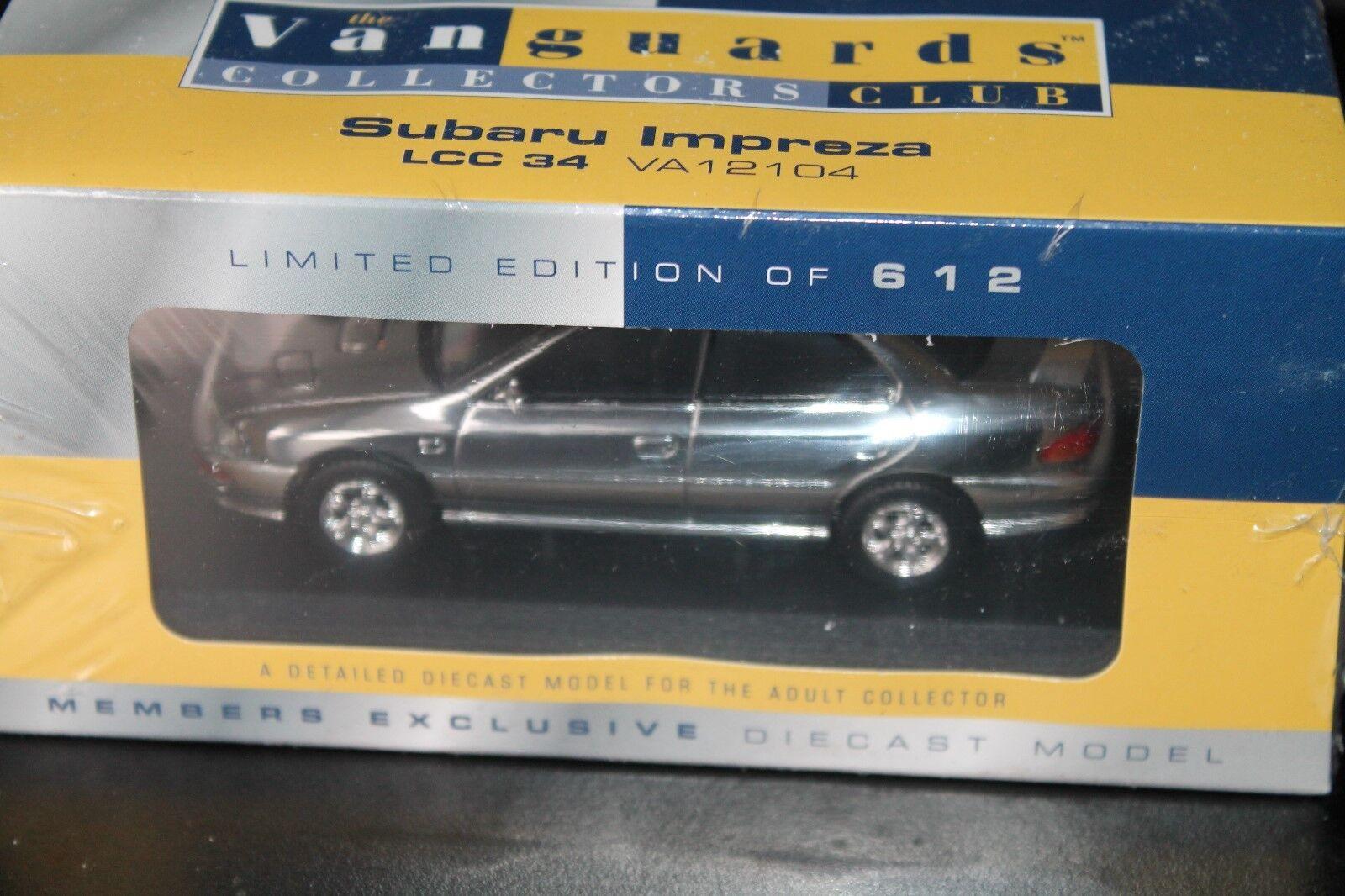CORGI vanguards  subaru Impreza  1 43  OVP  chrome plated  Limited