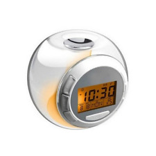Natural Sound Alarm Clock 7 Color Changing Light LED Screen 3AAA Battery Powered