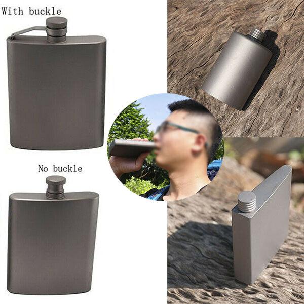Man's Travel Titane Hip Flask poche Cruche Vin plat pot Camping Tasse