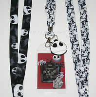 Disney The Nightmare Before Christmas Jack Lanyard Id Pin Holder Jack Charm