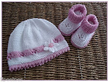 Baby Knitting Pattern 22 TO KNIT Baby Girls Beanie Hat & Booties in Three Sizes