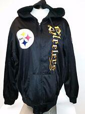 NFL Pittsburgh Steelers Reversible Heavy Full Zip Up Hoodie Jacket (XX-Large)