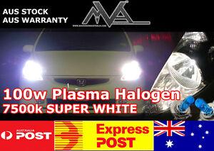 H3 100w SUPER BRIGHT WHITE 6500K Halogen Globes w// HD Ceramic Wiring Harness