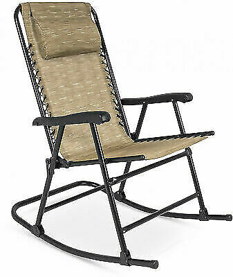 separation shoes 80423 04e6c Best Choice Products Folding Rocking Chair - Beige for sale online | eBay