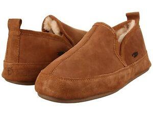 Acorn Men's Romeo Slipper Brown Genuine sheepskin Size Medium (D, M)