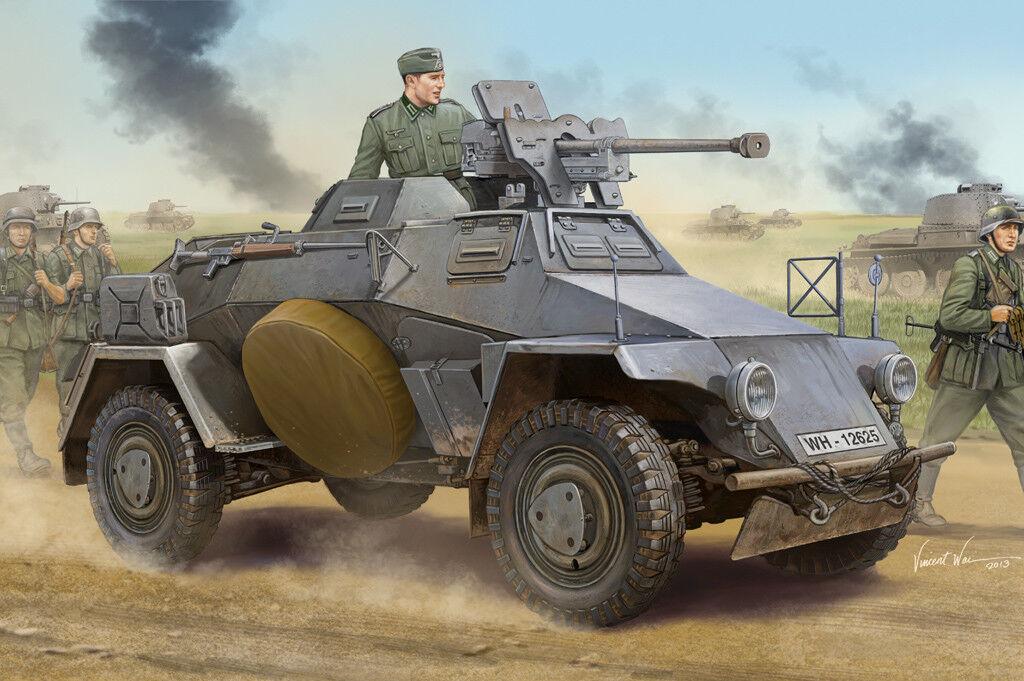 83813 trumpetare Tyska Le.Pz.Sp.Wg -Sd.Kfz.221 Tidig pansarbil Tank 1  35 modelllllerlerl