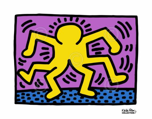KH08 by Keith Haring Art Print Dance Dancing Pop Poster 11x14