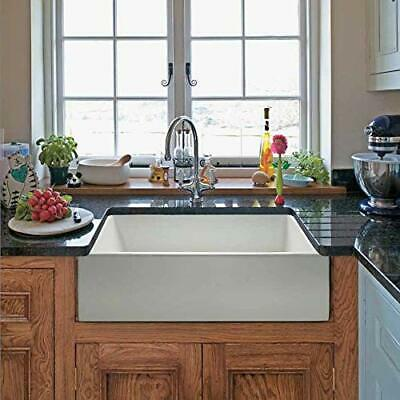 Youremodel YR-24WH 24 inch White Farmhouse Farmer Apron Single Bowl Kitchen  Sink | eBay