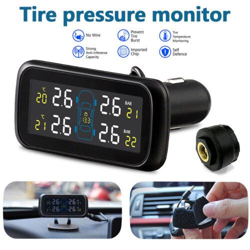 4 External Sensors Car Wireless TPMS Tire Tyre Pressure Monitoring System