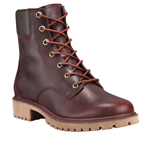 Timberland-Women-039-s-Jayne-6-Inch-Waterproof-Leather-Lace-Up-Boots-Burgundy