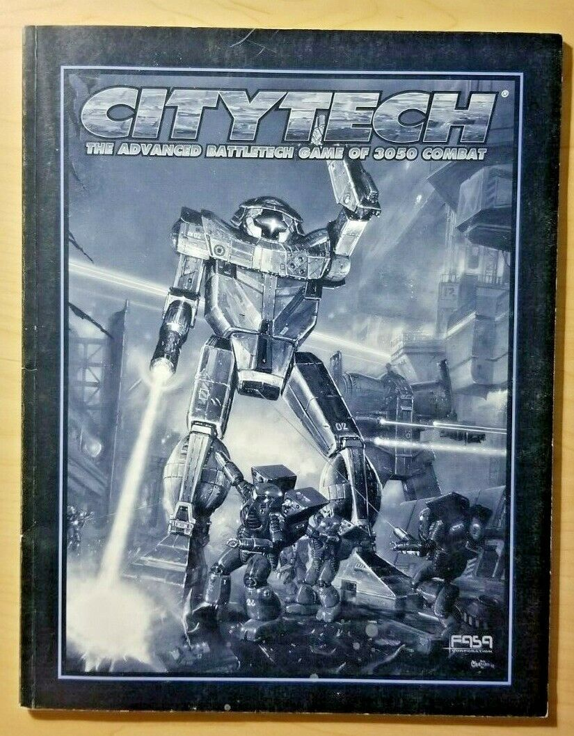 Citytech  Advanced Battletech Game of 3050 Combat rulebook (FASA)