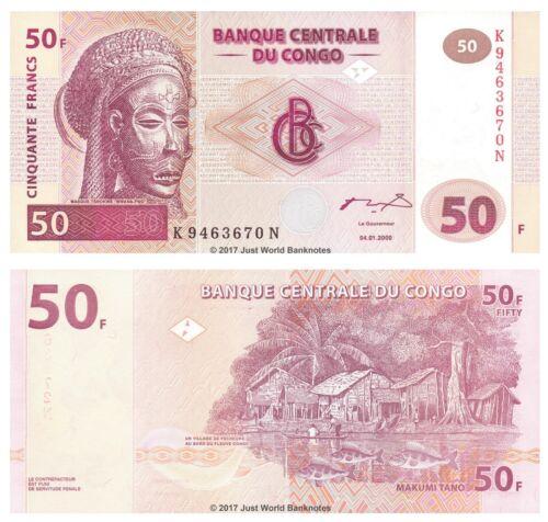 Congo 50 Francs 2000 P-91a Banknotes UNC