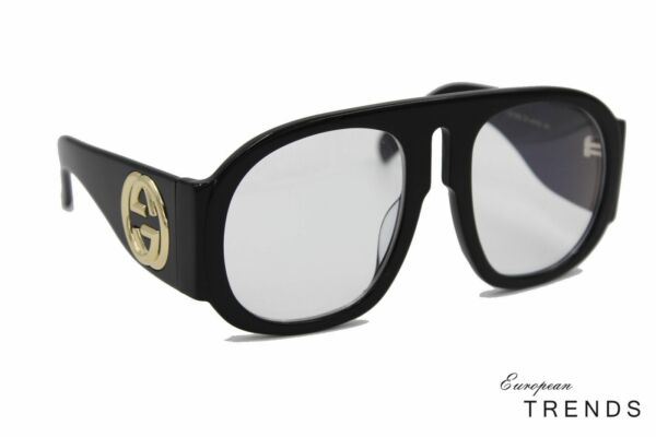 14da706526b Gucci GG 0152S Oversize Acetate Women with 57mm Lens - Black for sale  online
