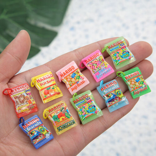 10Pcs Resin Food Candy Charms Pendants Flat back Cabochon DIY necklace earring