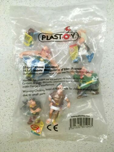 Scellées et avec tickets jaune NEUF 6 FIGURINES PVC ASTERIX par PLASTOY