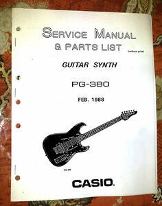 casio pg 380 pg380 service repair manual w clear schematics ebay rh ebay com guitar amp repair manual electric guitar repair manual