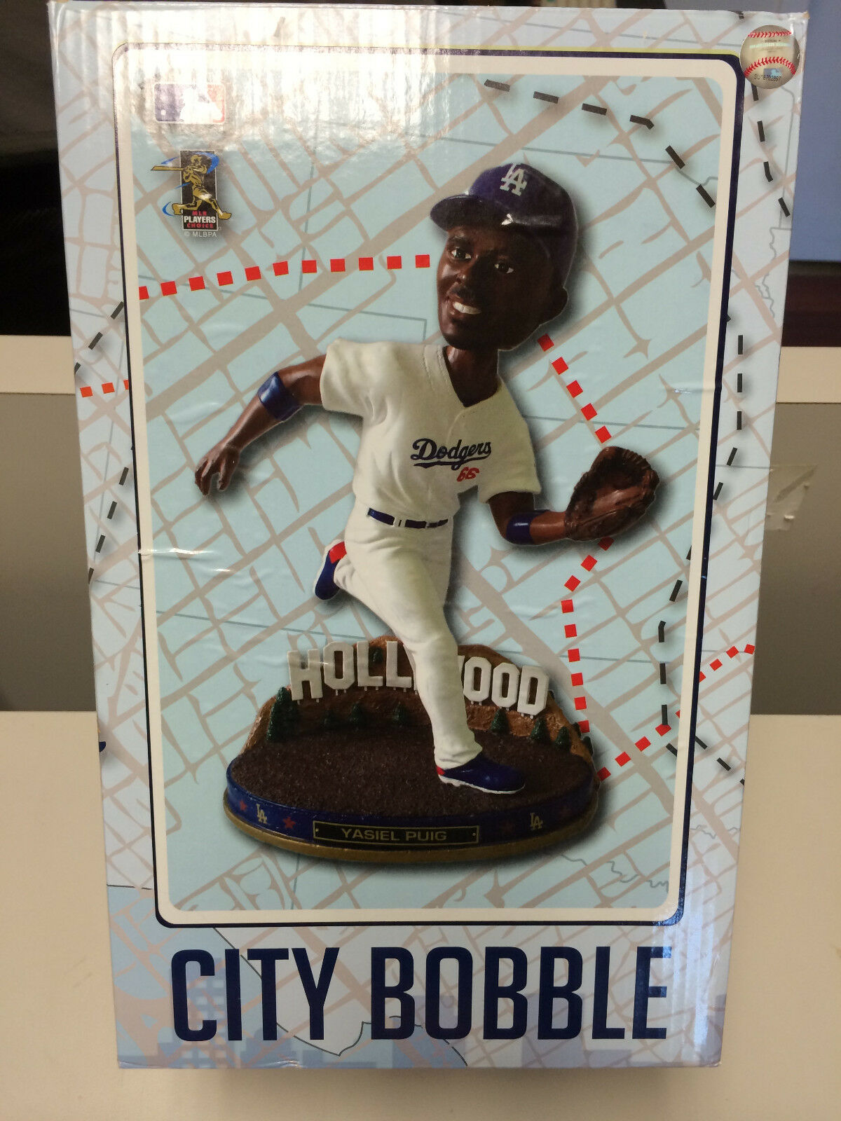 MLB Yasiel Puig LA Dodgers City Bobble Bobblehead