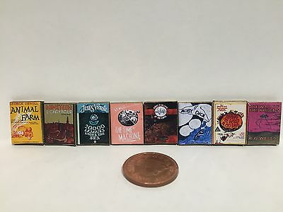 DOLLS HOUSE MINIATURE BOOKS - 1:12th Scale Classic Stories collection of 8