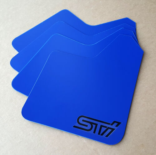 SR 02-07 Mud Flaps Set BLUE w// Hardware Kit /& Custom Vinyl Logo A