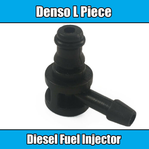1x Denso Diesel Common Rail Fuel Injector T Piece Leak Off Clip Black Plastic