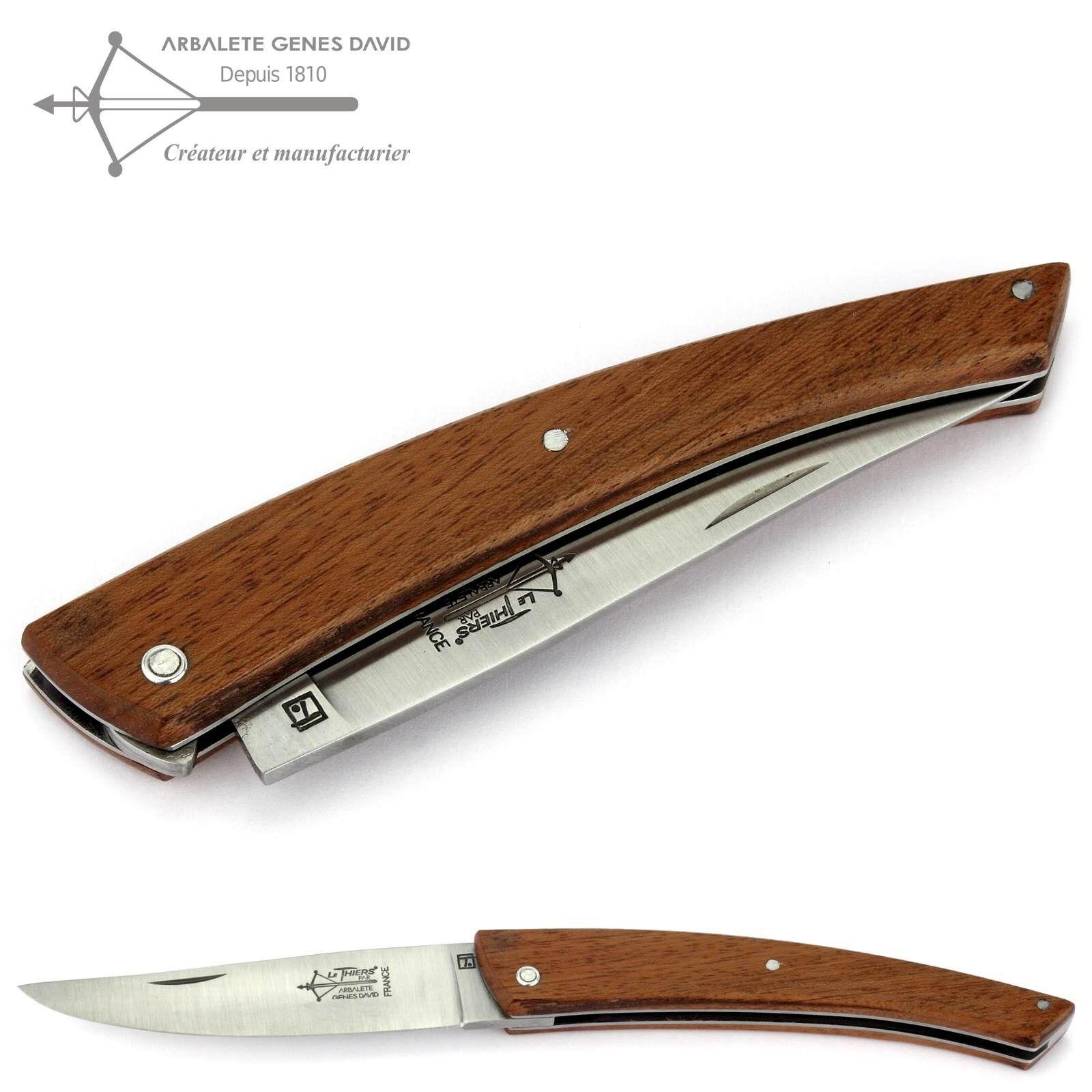 Arbalete G. David Thiers Taschenmesser 12 cm Messer Messer Messer TH112BI0 10CA Griff Bubinga 667949