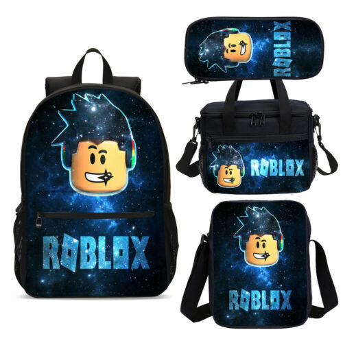 Galaxy Music Boys Roblox Back to School Backpack Bookbag Lunch Bag Set Lot Gifts