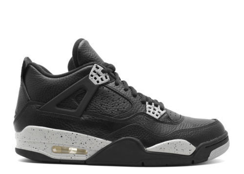 Nike air jordan 4 uomini retrò e scarpe neri tech grey 314254-003 oreo dimensioni 18