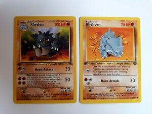 2-x-Pokemon-1st-Edition-Jungle-Set-Rhydon-45-amp-Rhyhorn-61-64-NM