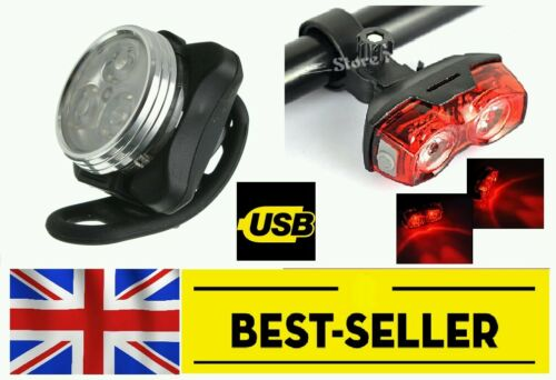 very bright red led mountain road bike cycling UK STOCK front rear lights set
