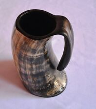 Viking Bar Mug Real Horn Handmade  From Natural Material Size: 7  Inches