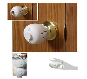 Details About BEST Child Proof Safe Door Knob Cover Safety Lock Kids  Toddler Guard (Pack Of 2)
