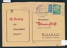 87145) OWL  Landpost Ra2 21a Hücker über Herford (violett) Kte 1955