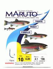 10 Maruto Forellenhaken Forellen Haken Forellenangeln 1m Forellenvorfach Angelhaken zum Forellenfang am Forellensee