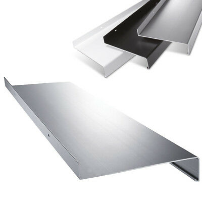 dunkelbronze silber anthrazit Aluminium Fensterbank Zuschnitt auf Ma/ß Fensterbrett Ausladung 225 mm wei/ß