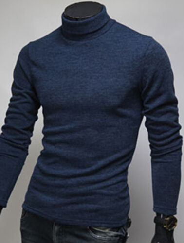 Mens New Fashion Slim Fit Knit Turtleneck Sweater Long Sleeve Polo Top W522 S//M