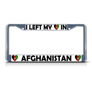 AFGHANISTAN FLAG CHROME COUNTRY Metal License Plate Frame Tag Holder