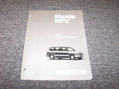 1998 Mazda MPV Van Original Electrical Wiring Diagram ...