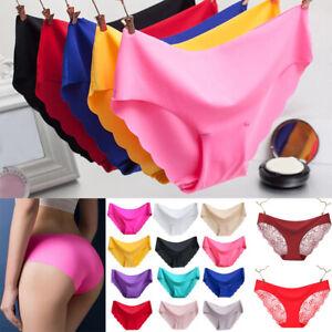 1 x Seamless Ladies Lingerie Cotton Underwear Silk Low-rise Panties Underpants