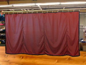 Burgundy Curtain/Stage Backdrop/Parti<wbr/>tion, Non-FR, 10 H x 15 W