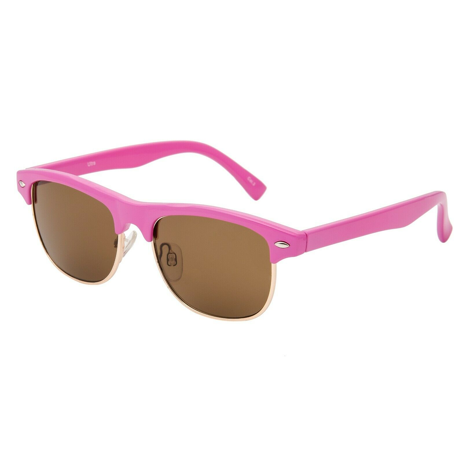 Halfbye Retro Vintage Oval Sunglasses for Boys Girls Kids Clout Goggles Plastic Frame Classic Eyewear Candy Color