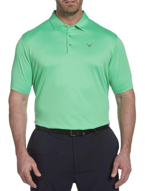 Callaway Golf Mens Big & Tall 2xl Swing Techopti-dri Polo Shirt Irish Green