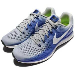 fec5ca59cecf2 Nike Air Zoom Pegasus 34 Men s Running Shoes 880555 007 Gray Blue ...