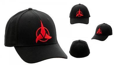 STAR TREK Licensed KLINGON Empire ICON Symbol Flex BASEBALL Cap Hat Adjustable