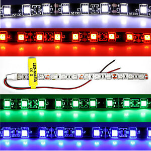 LED-Strip-Streifen-24V-30cm-60cm-rot-blau-weiss-gruen-Kabel-Beleuchtung-8-90-m